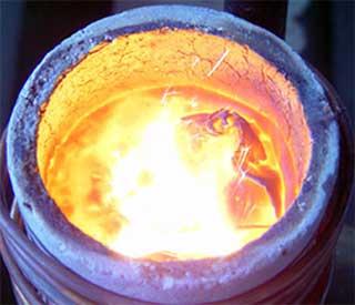 金银铜铁铝不锈钢等金属熔炼!