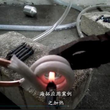 高频淬火机对螺杆局部加热淬