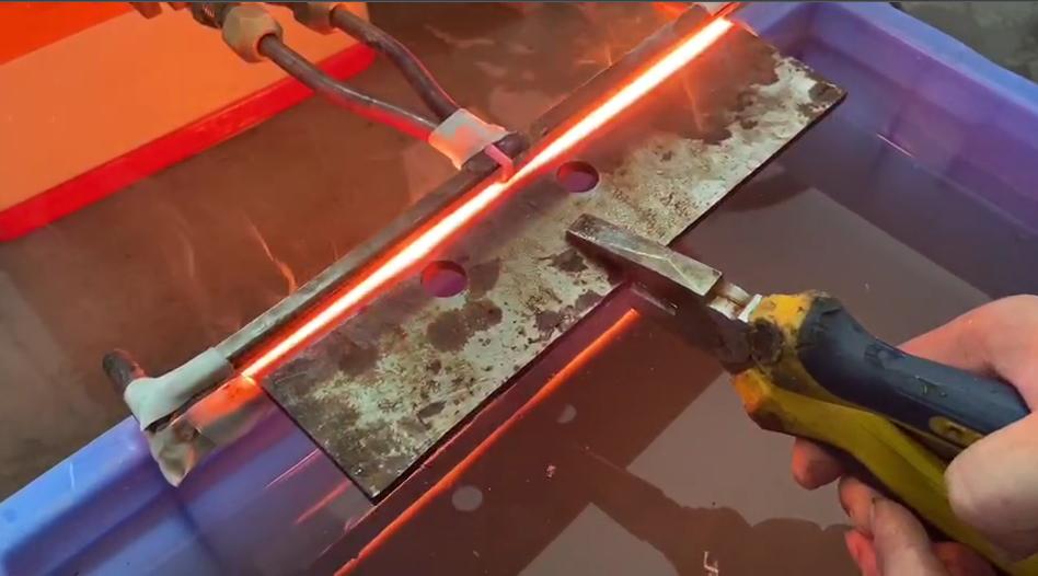 超高频加热机对刀具刀口淬火
