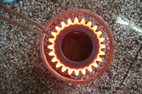 一种典型的齿轮感应加热淬火工艺(
