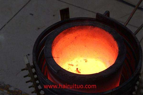 中频废铜熔炼炉