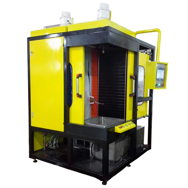 Digital vertical induction hardening/quenching machine, induction hardening device, induction quenching facility